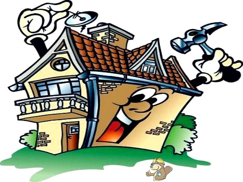 Прикольные рисунки домов